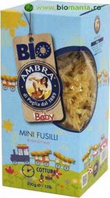 Paste fainoase bio pentru copii Mini Fusilli Baby 500g de la Bio Mania Srl.