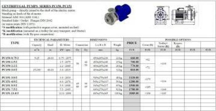 Pompe centrifugale de la Ind Power Equipments
