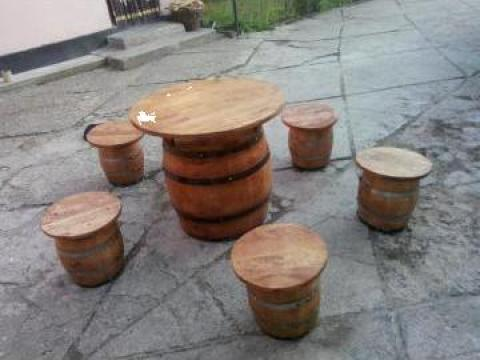 Masuta butoi cu tamburele