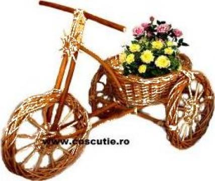 Ornament gradina tricicleta cu cos pentru flori