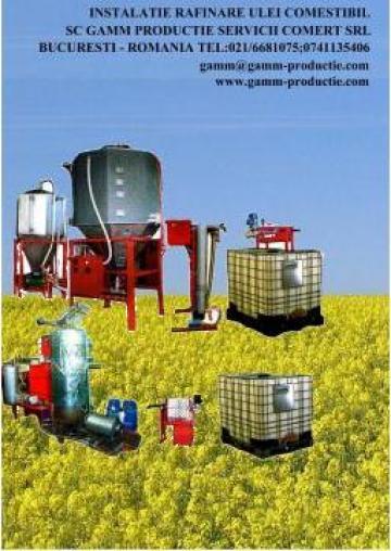 Instalatie rafinare ulei comestibil