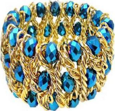Bratara supradimensionata Royal blue