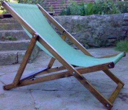 Sezlong din lemn cu panza de la Company Gino Srl