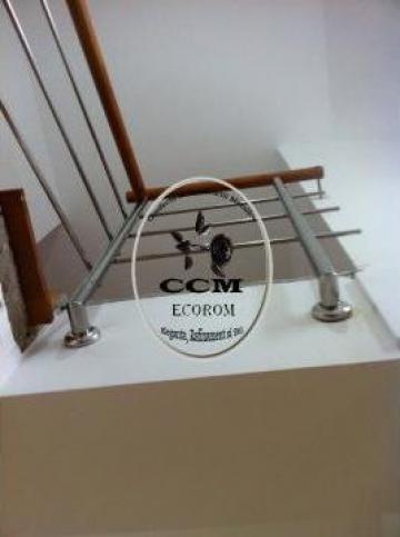 Balustrade inox pentru casa de la CCM Ecorom Srl