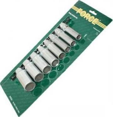 Trusa tubulare lungi cu 6 laturi, 8 piese Force de la Zimber Tools