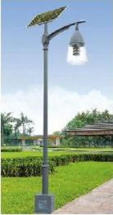 Stalp iluminat parcuri panou solar fotovoltaic PLGS14 20W de la Palagio System Group