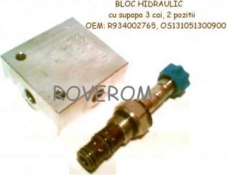 Bloc hidraulic Bosch Rexroth, cu supapa 3 cai, 2 pozitii de la Roverom Srl
