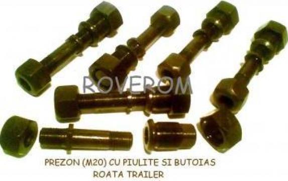 Prezon (M20) cu piulite si butoias, roata trailer