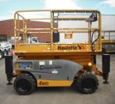 Inchiriere platforme foarfeca diesel / electrice Haulotte de la Veronmax