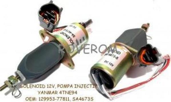 Solenoid 12V, pompa injectie Yanmar, Komatsu, Hyundai, Volvo