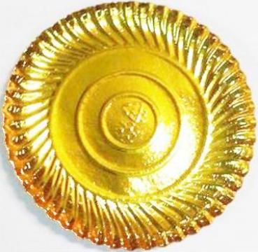 Farfurii aurii pentru cofetarie 20 cm