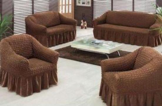 Set huse - canapea 3 locuri + 2 fotolii de la