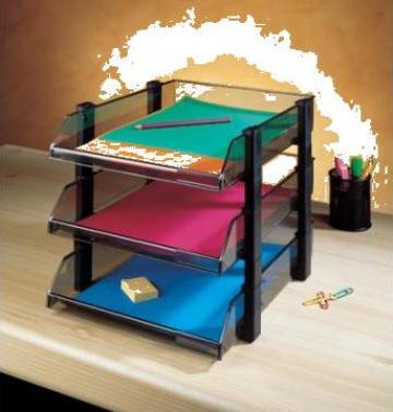 Set de 3 tavite suprapozabile pentru birou