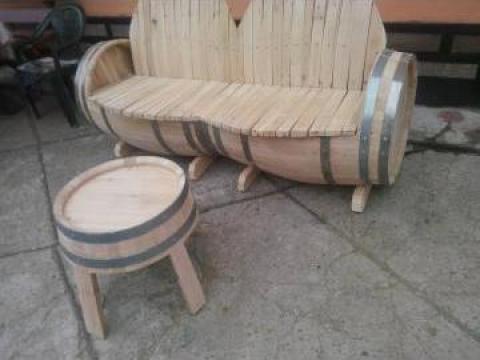 Canapea + masa din stejar uscat