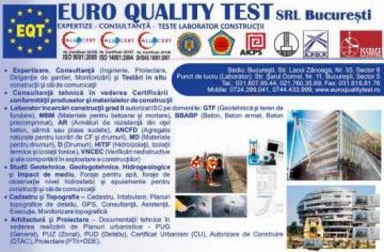 Consultanta tehnica si Certificare conformitate produse