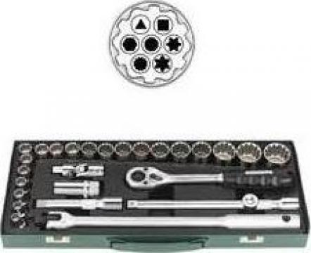 Trusa cu chei tubulare 7632-380