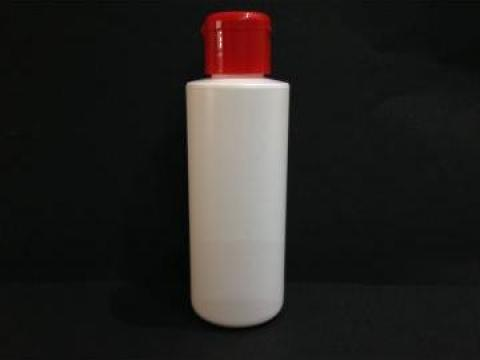 Flacon plastic alb 135 ml cu dop flip top de la Vanmar Impex Srl