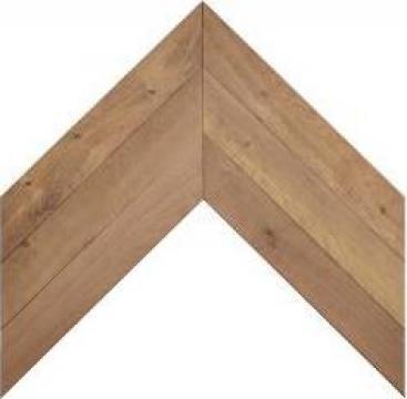 Panouri parchet chevron din lemn de stejar carbonizat/afumat