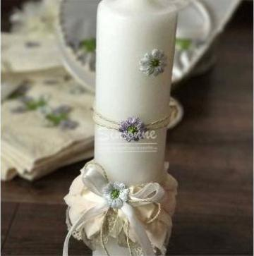 Lumanare botez floricele de la Simonne