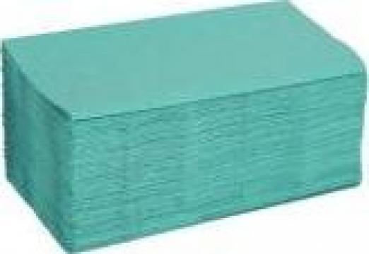 Prosoape pliate din hartie V, 1 strat, verde de la Best Distribution Srl