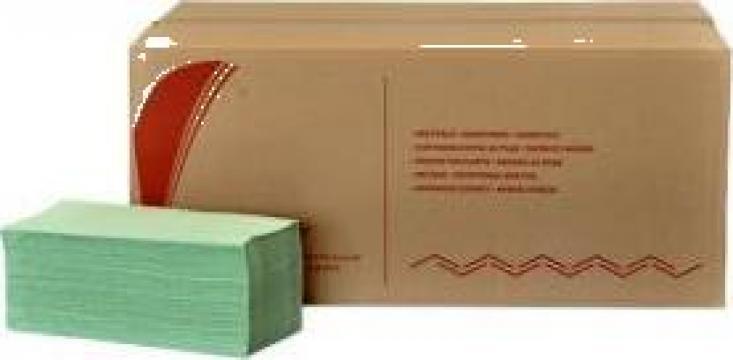 Prosoape pliate din hartie V Bokk, 1 strat, 250 portii de la Best Distribution Srl