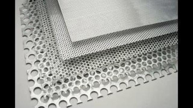 Tabla perforata de otel si otel zincat (galvanizat) de la MRG Stainless Group Srl