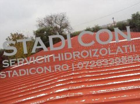 Hidroizolatii hale peste tabla cu cauciuc acrilic de la Stadi Con Srl