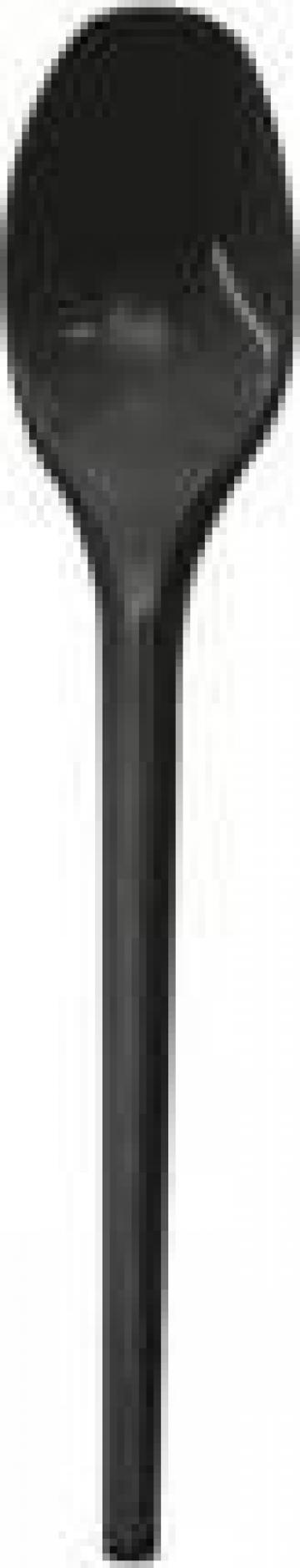Lingurite lux negre 100 buc/set de la Cristian Food Industry Srl.
