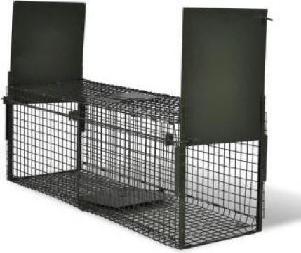 Capcana pentru animale cu 2 intrari de la Vidaxl