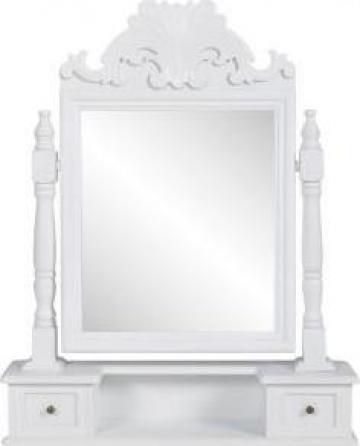 Masuta de toaleta cu oglinda patrata