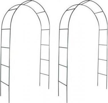 Pergola arcuita pentru gradina, 2 buc de la Vidaxl