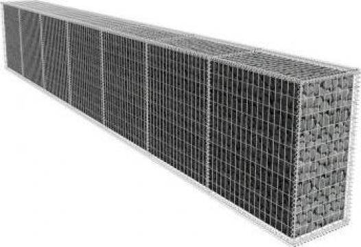 Zid gabion cu capac, 600 x 50 x 100 cm