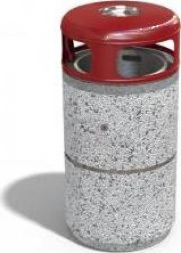 Cos de gunoi stradal din beton cu capac metalic de la Encho Enchev ETE Srl
