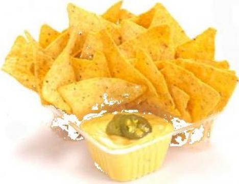 Tavite nachos transparente mici 2 compartimente 500 buc/bax de la Cristian Food Industry Srl.