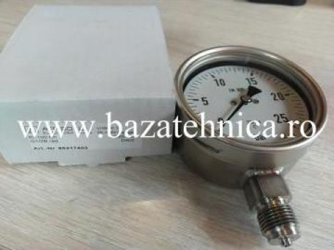 Manometru radial uscat inox 100 mm 0-25B de la Baza Tehnica Alfa Srl