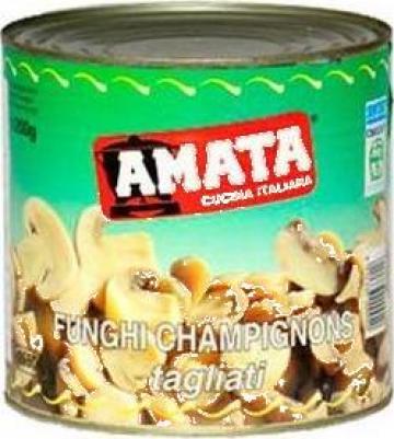 Conserve ciuperci taiate Amata de la S.c. Italin Gross Impex S.r.l.