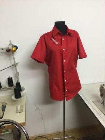 Camasa uniforma cu maneca scurta personalizata de la Sc Atelier Blue Srl