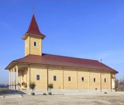Biserica din lemn de brad Italia de la Sc Home Lemn Srl