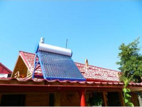 Sistem solar nepresurizat apa calda 135litri, 4 persoane de la Sc Electro Solar Timisoara Srl