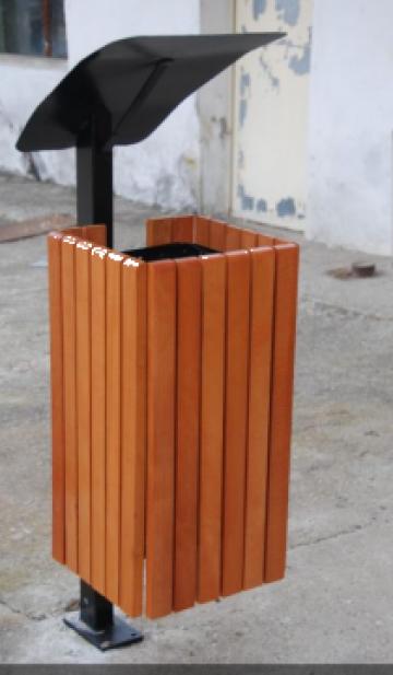 Cos de gunoi patrat cu picior metalic de la Ygrocris Dorally Steel Srl