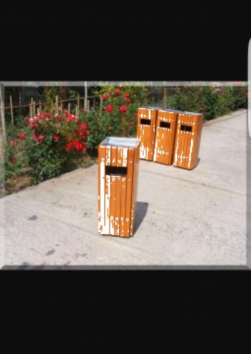 Cos de gunoi stradal cu scrumiera UU900 de la Ygrocris Dorally Steel Srl