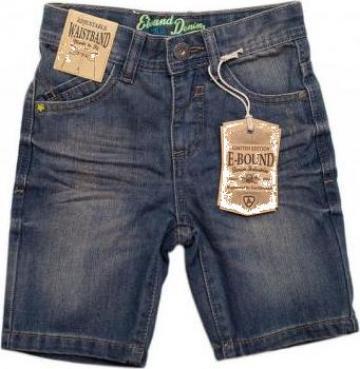 Pantaloni scurti pentru baieti Jeans E-Bound de la A&P Collections Online Srl-d