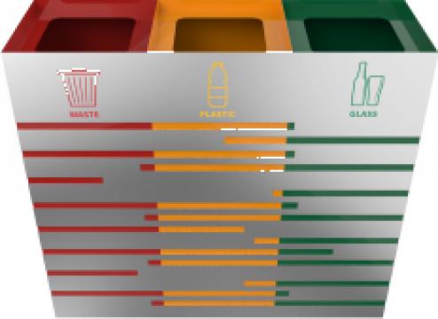 Cosuri colorate de gunoi din inox Kandel SST de la Forward Support Srl
