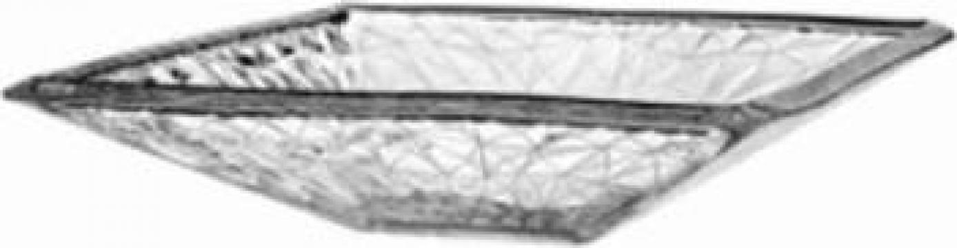 Platou patrat din sticla temperata Vidivil colectia Dolomoti