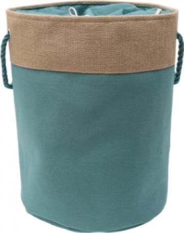 Cos textil de rufe rotund Raki Oropol 40xH50cm bej-verde de la Basarom Com