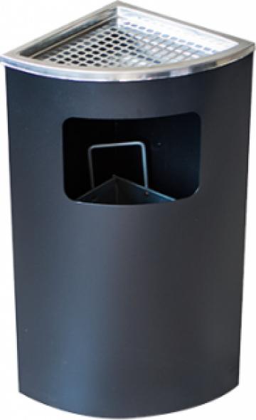 Scrumiera exterioara colt Icikala culoare neagra 25x25xh62 de la Basarom Com