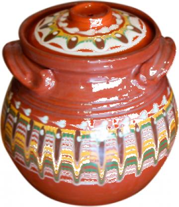 Oala ceramica, lut 4litri de la Basarom Com