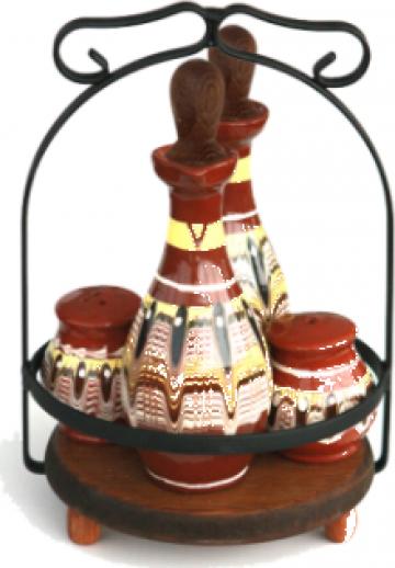 Oliviera completa ceramica, lut 5 piese de la Basarom Com