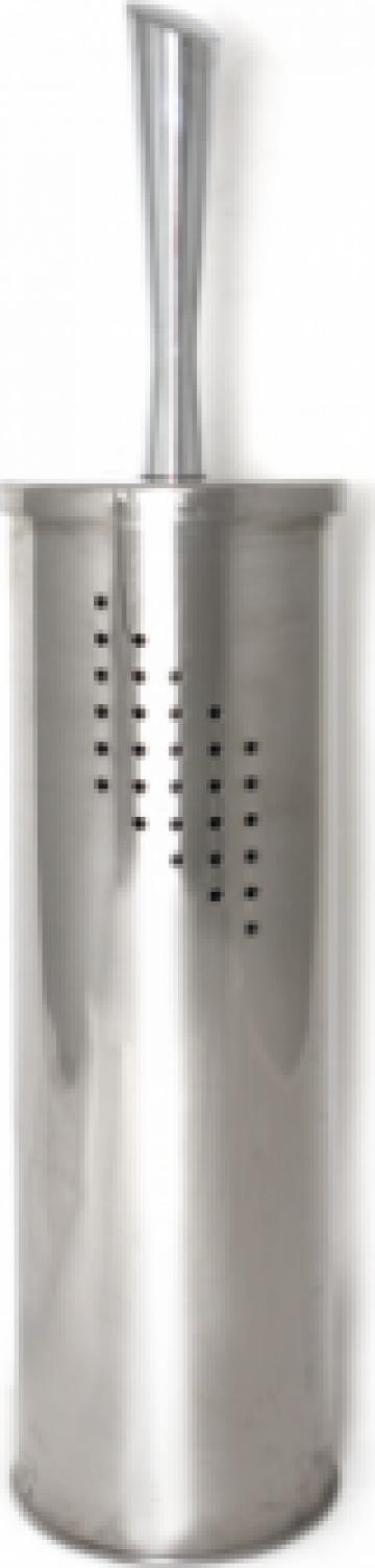 Perie WC cu suport cromat de la Basarom Com