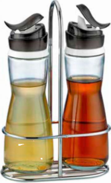 Set sticle 2 buc. cu suport pentru ulei, otet M-352001 Marea de la Basarom Com
